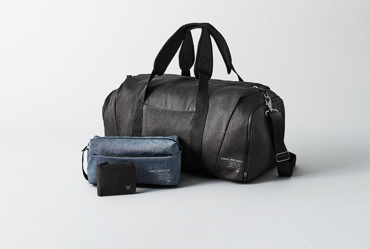 duffle bag and travel kit